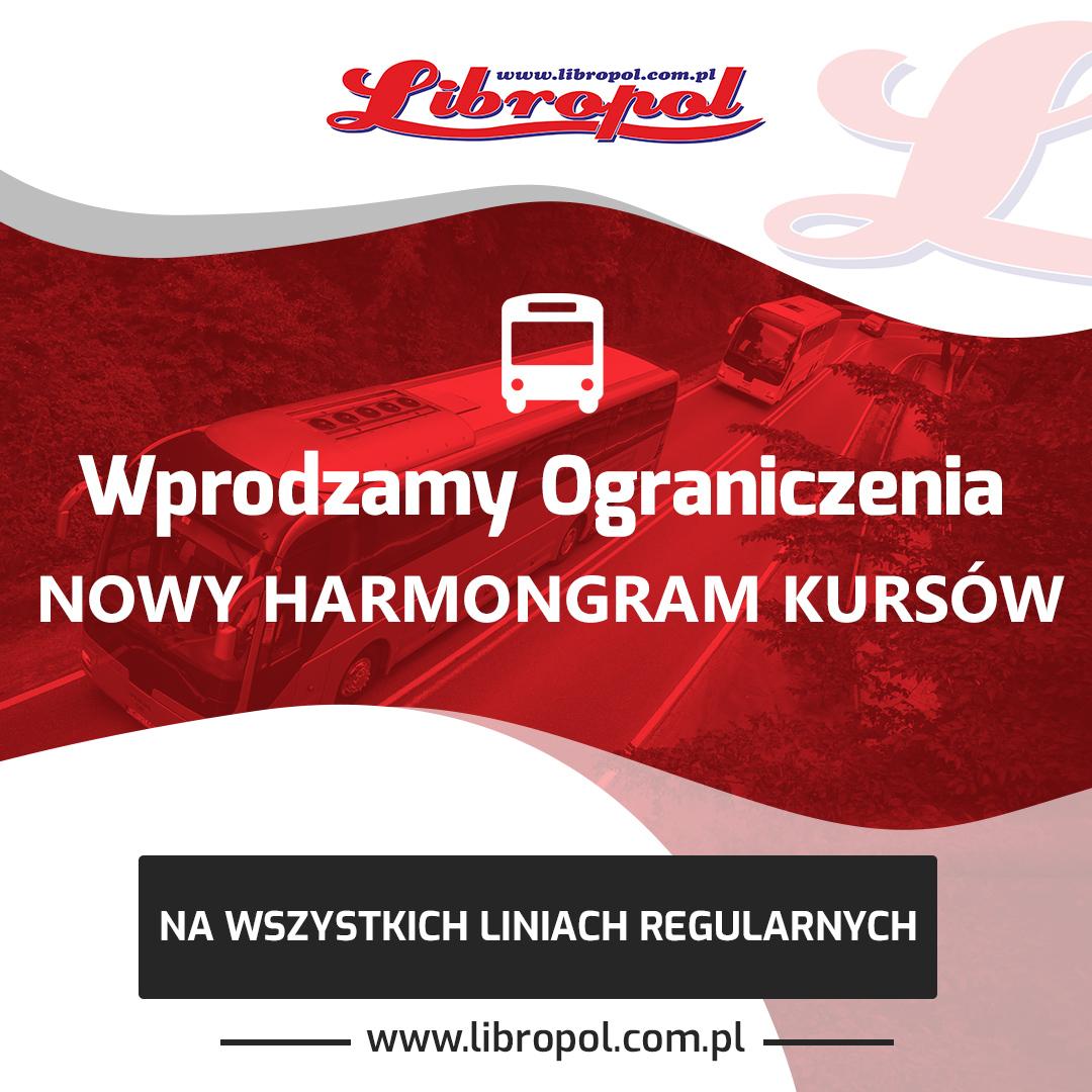 OGRANICZENIA związane z pandemią! Od poniedziałku, 19 października nowy harmonogram obsługi linii regularnych
